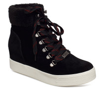 Windy High Sneaker Boots Knöchelhohe Stiefel Schwarz