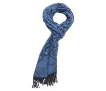 D1. G Wollschal Schal Blau