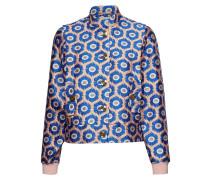 Poseugenie Jacket Sommerjacke Dünne Jacke Blau
