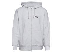 Vocal Fz Hoody Sweatshirts & Hoodies Zip Throughs Grau