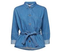 Ajda Indigo Jacket Langärmliges Hemd Blau INWEAR