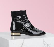 Ankle Boots Trompe L'oeil Buckle Hidden Heel
