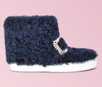 Sneaky Viv' High Top Strass Buckle Fur