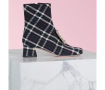 Ankle Boots Très Vivier Strass Buckle Piping