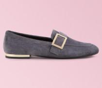 Loafers Metal Buckle aus Veloursleder