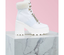Ankle Boots Viv' Utility Fur Strass Buckle