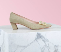 Belle Vivier Motherpearl Buckle Pumps