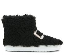 Sneaky Viv' High Top Strass Buckle Fur