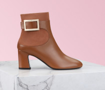 Ankle Boots Chunky Trompette Metal Buckle