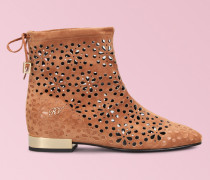 Ankle Boots Skin Dentelle Hidden Heel