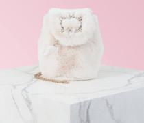 Broche Vivier Fur Mini Backpack