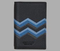 Kreditkartenetui aus Leder mit Farbigem