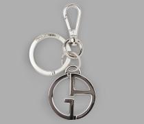 Schlüsselanhänger mit zwei Logo-anhängern