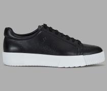 Sneakers aus Leder mit Perforiertem Logo