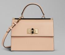 Handtasche Borgonuovo 11 aus glattem Leder Mit