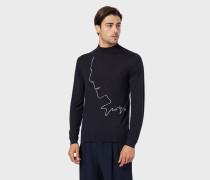 Pullover aus Schurwolle mit Intarsie Von Mr Armani