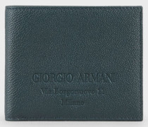 Klapp-Portemonnaie aus Granat-kalbsleder
