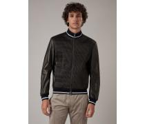 Jacke aus Handschuh-lammnappaleder mit Elastischem