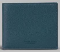 Bifold-Portemonnaie aus genarbtem Kalbsleder
