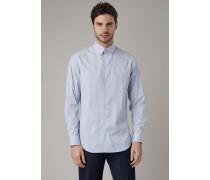 Hemd in Slim Fit aus Stoff mit Muster Auf