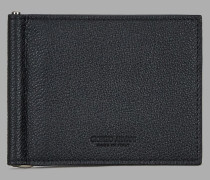Portemonnaie aus Granatleder mit Geldscheinclip