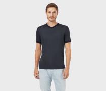 T-shirt aus Jersey in Viskose und Seide