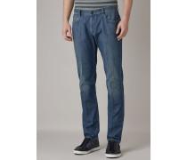 Jeans in Slim Fit aus Stretchdenim 7,4 Oz in Vintage-stone-waschung, Geschmirgelt