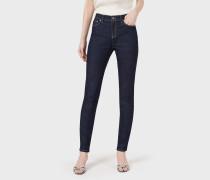 Jeans in Slim Fit aus Baumwolldenim mit Stretch