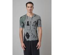 Bedrucktes T-shirt aus Elastischem Viskose-jersey