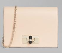 Mini-kuverttasche Borgonuovo 11 aus Glattleder Mit
