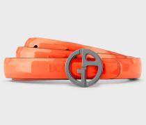 Wendegürtel aus Leder mit Rundem Logo