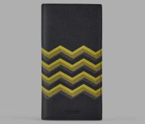 Vertikale Brieftasche aus Leder mit Farbigem