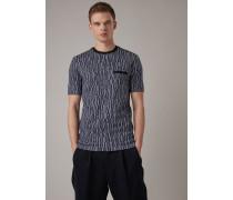 T-shirt aus Viskose Stretch Jersey und Schriftzug