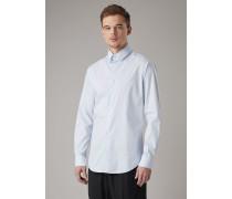 Hemd in Slim Fit aus Gestreiftem Fil-à-fil