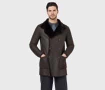 Wendbarer Mantel aus Spanischem Lammfell Als
