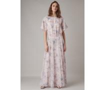 Kleid aus Bestickter Seide