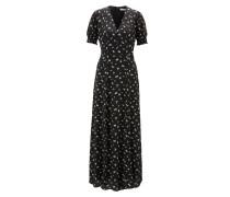 Maxi Kleid mit voluminösen Ärmeln