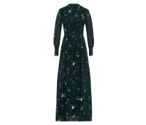 Maxi Kleid mit Stehkragen Moosgrün