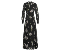 Maxi Kleid mit Stehkragen