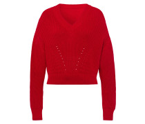 Pullover mit V-Ausschnitt Hellrot