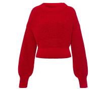 Weit geschnittener Pullover Hellrot