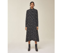 Midi Kleid mit Raffung in der Taille