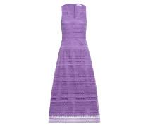 Midi Kleid mit Spitzendetails Kristallviolett
