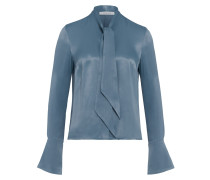 Langärmlige Bluse mit Bindeschleife