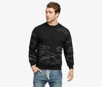 Sweatshirt ALOIS PATTERN schwarz