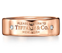 Return to Tiffany™ schmaler Ring in 18 Karat Roségold mit Diamanten