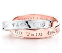 Tiffany 1837® verschlungener Ring aus Sterlingsilber und Rubedo® Metall