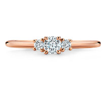 Tiffany Three Stone Diamantring in 18 Karat Roségold