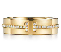 Tiffany T Two Ring in 18 Karat Gold mit Diamanten