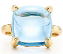 Paloma's Sugar Stacks Ring in 18 Karat Gold mit einem Blautopas
